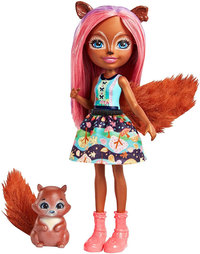 Mattel Enchantimals Lalka Sancha Squirrel + Zwierzątko Stumper FNH22 (FMT61)