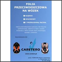 Caretero Folia na wózek spacerowy