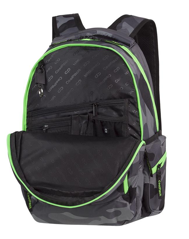 98175f09e91be ... Galeria produktu CoolPack Break Plecak Szkolny Camo Green Neon 90377CP,  ...