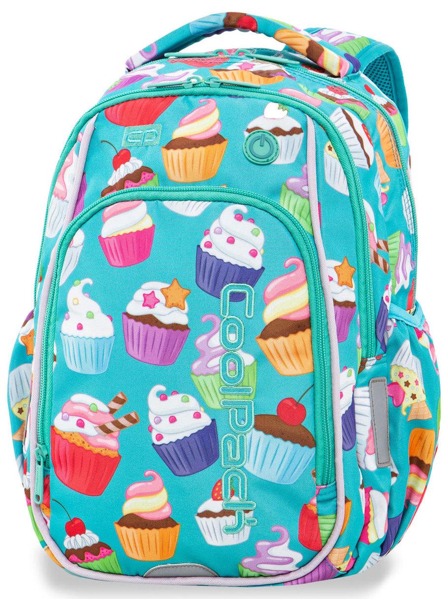 861c29ac7c252 CoolPack Strike S Plecak Szkolny Świecący LED Cupcakes A18203 sklep ...