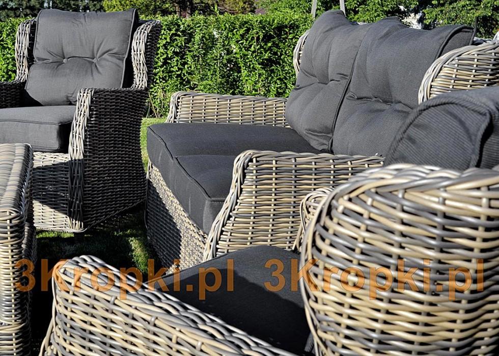 Technorattan Zestaw Mebli Prestige 3 Sofa 2 Fotele Stół Kurier Gratis